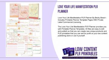 Love Your Life Manifestation PLR Planner