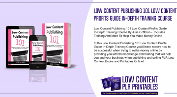 Low Content Publishing 101 Low Content Profits Guide In Depth Training Course