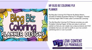 My Blog Biz Coloring PLR Planner