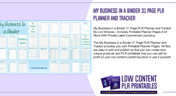 My Business in a Binder 31 Page PLR Planner and Tracker