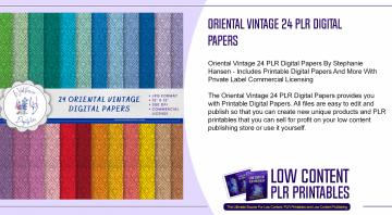 Oriental Vintage 24 PLR Digital Papers
