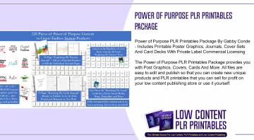 Power of Purpose PLR Printables Package