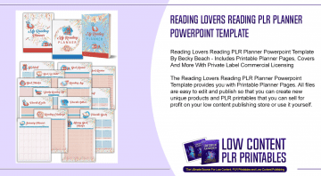 Reading Lovers Reading PLR Planner Powerpoint Template