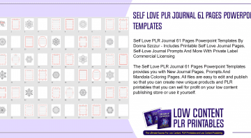 Self Love PLR Journal 61 Pages Powerpoint Templates