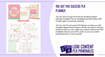 You Got This Success PLR Planner