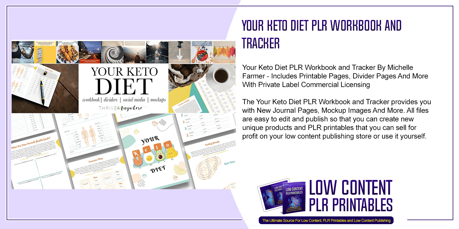 Your Keto Diet PLR Workbook and Tracker