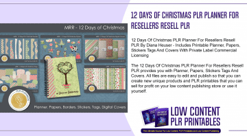 12 Days Of Christmas PLR Planner For Resellers Resell PLR 1