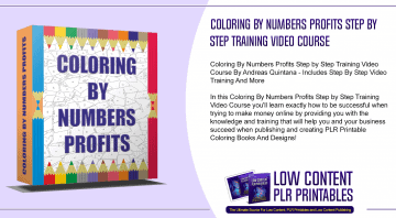 Coloring By Numbers Profits Step by Step Training Video Course