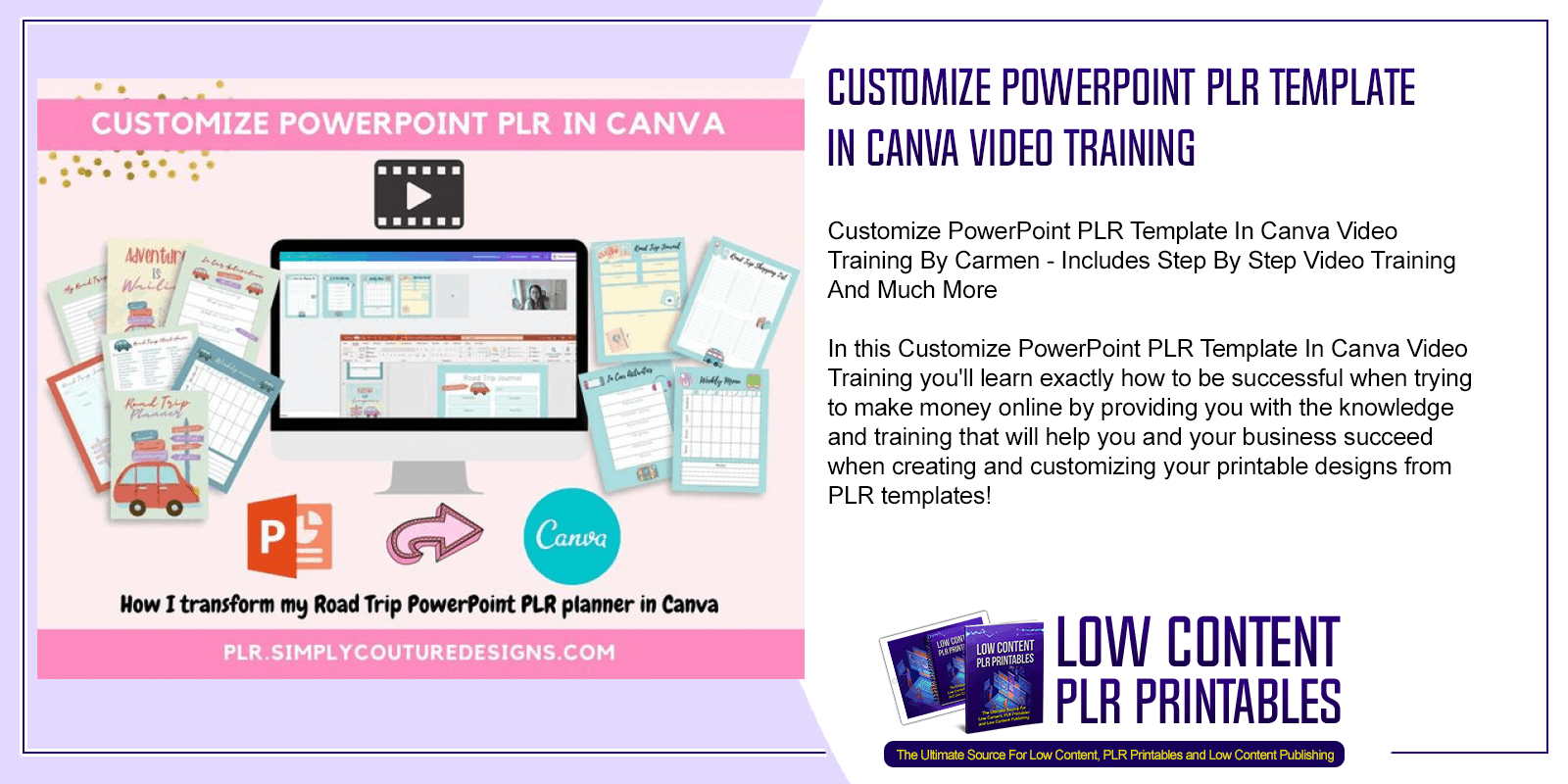 Customize PowerPoint PLR Template In Canva Video Training