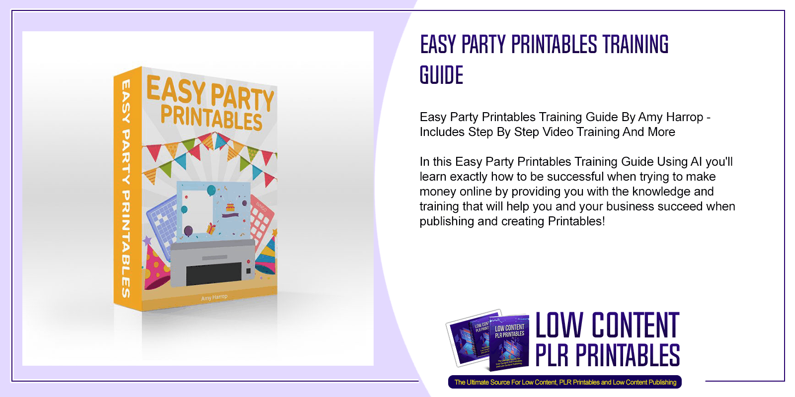 Easy Party Printables Training Guide