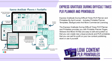 Express Gratitude During Difficult Times PLR Planner and Printables