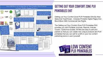 Getting out Your Comfort Zone PLR Printables EKit