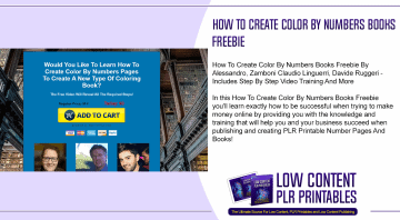 How To Create Color By Numbers Books Freebie