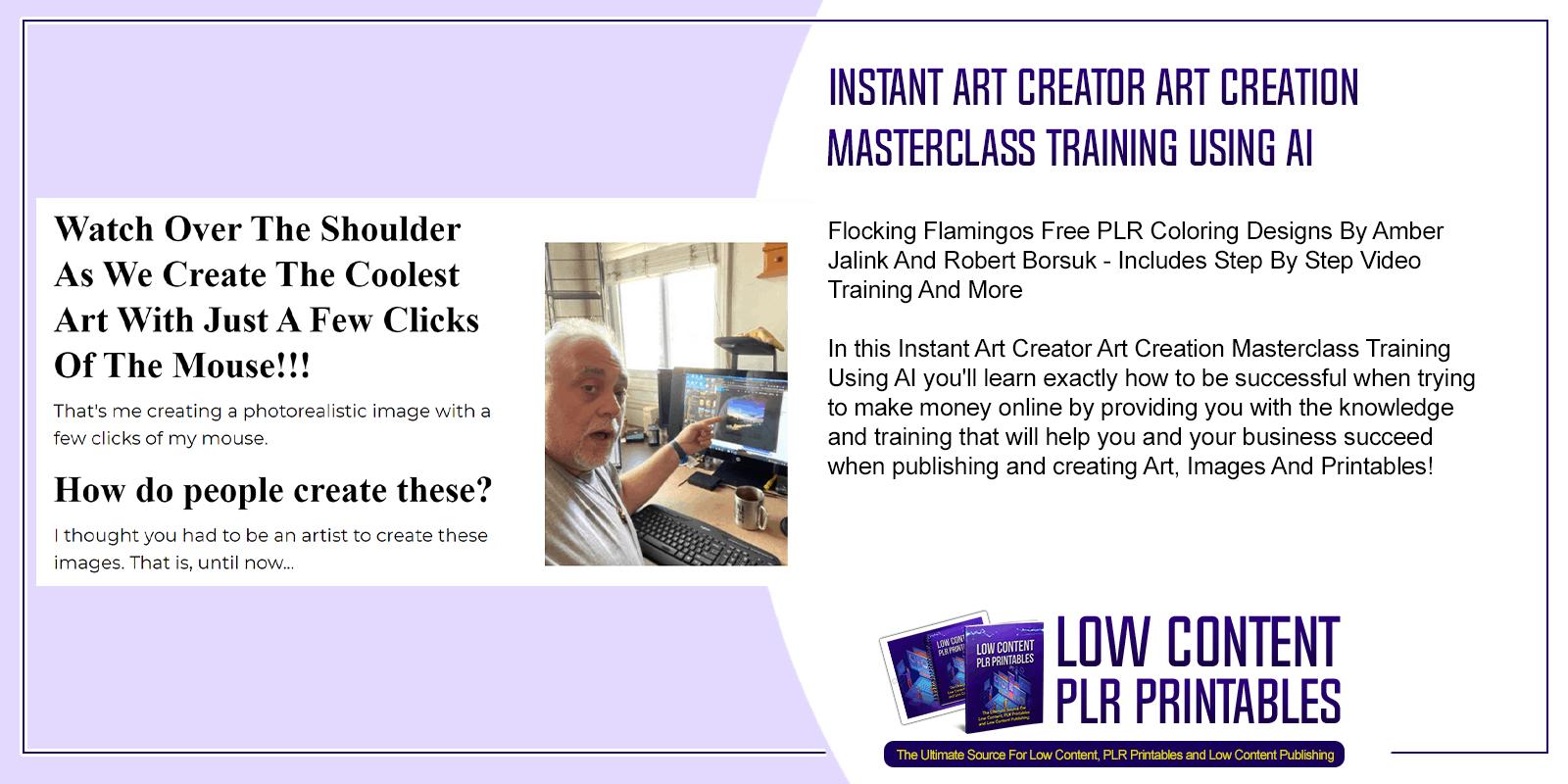 Instant Art Creator Art Creation Masterclass Training Using AI