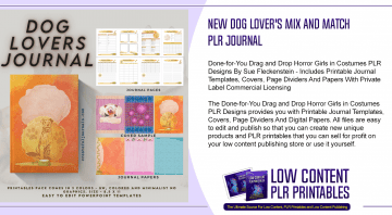 New Dog Lovers Mix and Match PLR Journal