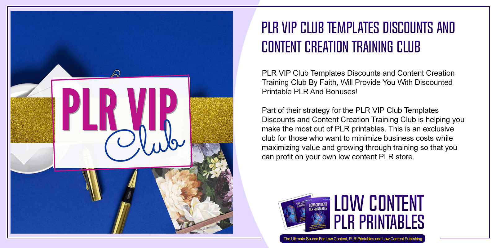 PLR VIP Club Templates Discounts and Content Creation Training Club