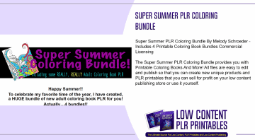 Super Summer PLR Coloring Bundle