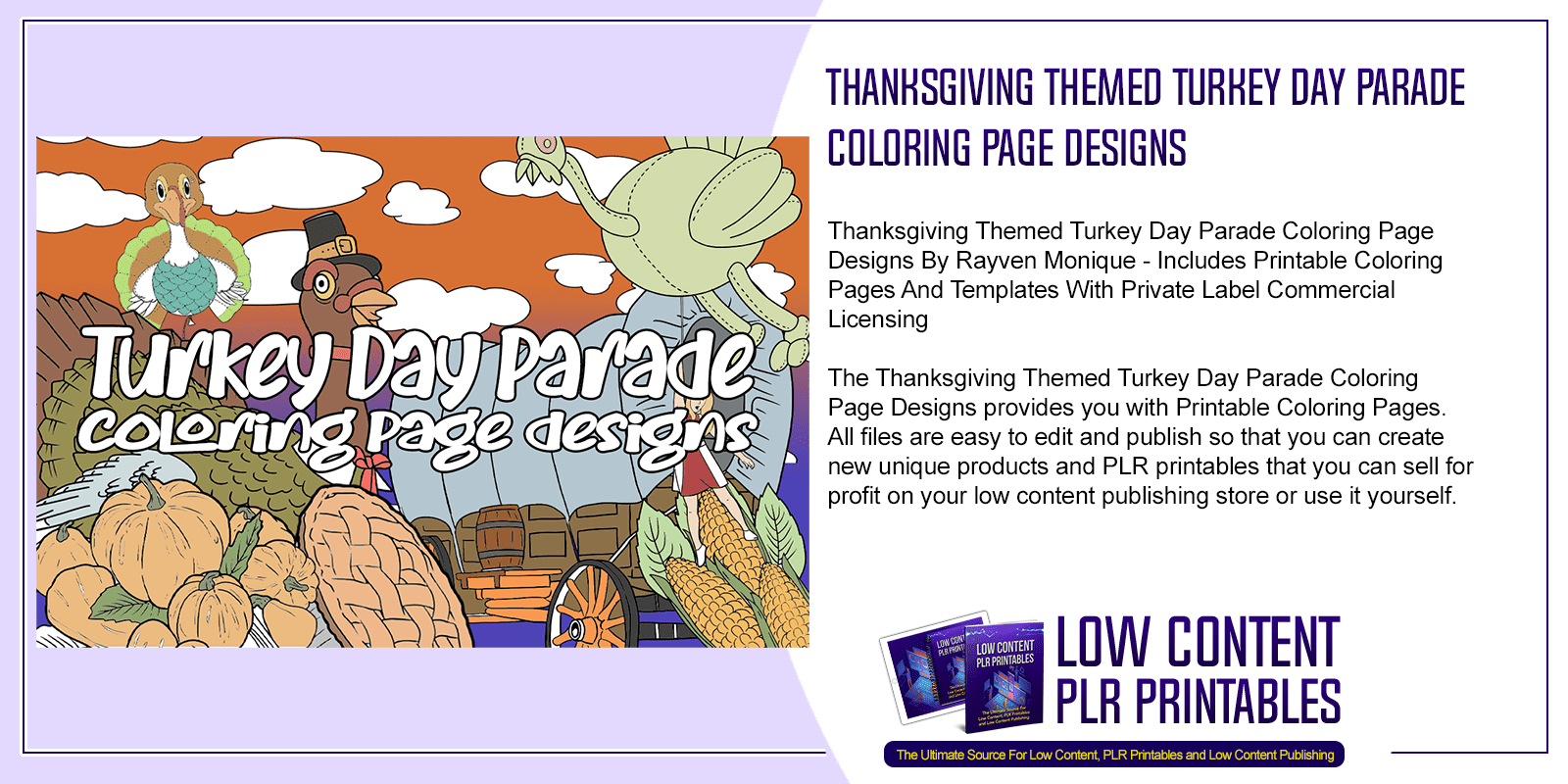 Thanksgiving Themed Turkey Day Parade Coloring Page Designs
