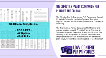 The Christian Family Companion PLR Planner and Journal