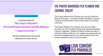 The Prayer Warriors PLR Planner and Journal Toolkit