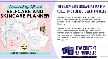 The Selfcare and Skincare PLR Planner Collection 58 Unique Powerpoint Pages