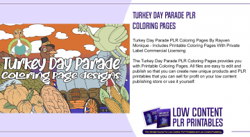 Turkey Day Parade PLR Coloring Pages
